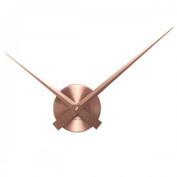 Karlsson Little Big Time Clock Mini - copper hands wall clock