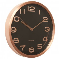 Karlsson Maxie Copper Clock - Black - designer copper clock