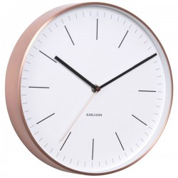 Karlsson Minimal Copper Clock (White) - Red Candy