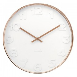 Mr White Numbers Copper Clock (Small) - Red Candy