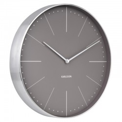 Karlsson Normann Wall Clock (Grey) - Red Candy