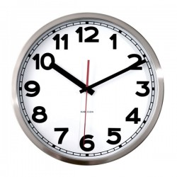 Karlsson Numbers Wall Clock - Red Candy