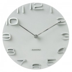 Karlsson On The Edge Clock - white embossed wall clock