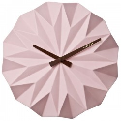 Karlsson Origami Wall Clock - Pink - faceted designer clock