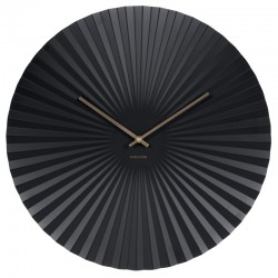 Karlsson Sensu Clock Large - Black - pleated wall clock