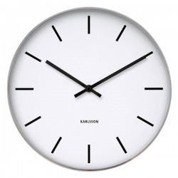 Karlsson Station Classic Wall Clock - plain white clock