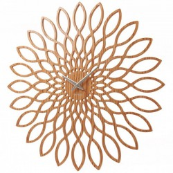 Karlsson Wood Sunflower Clock - Red Candy