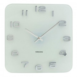 Karlsson Vintage White Glass Clock - white square clocks