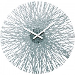 Koziol Silk Wall Clock - Anthracite - unusual grey wall clock