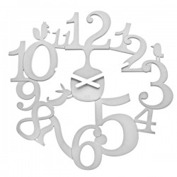 Koziol Pi:p Wall Clock (White) - Red Candy