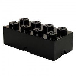 Lego Storage Brick (Black, 2 Sizes Available) - Red Candy