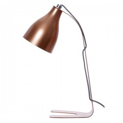 Barefoot Table Lamp - Copper - metallic desk light - Leitmotiv