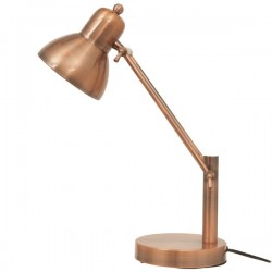 Copper Office Desk Lamp - Red Candy