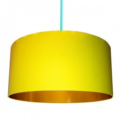Cotton Lampshade - Sunshine Yellow & Gold - Love Frankie