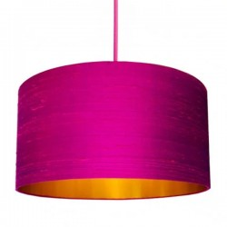 Indian Silk Lampshade - Hot Pink & Gold - Love Frankie