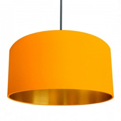 Linen Lampshade - Egg Yolk Yellow & Gold - Love Frankie