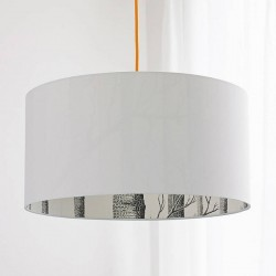 Silhouette Cotton Lampshade (Cole & Son The Woods) - Red Candy