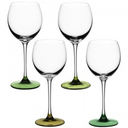 LSA Coro Wine Glasses - set of 4 leaf green wine glasses