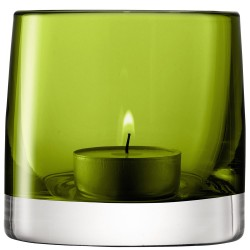 LSA Light Colour Tealight Holder - designer olive green tea light