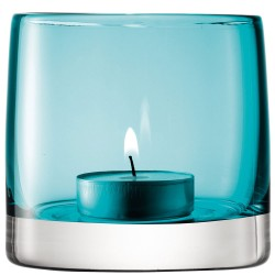 LSA Light Colour Tealight Holder - designer turquoise tea light