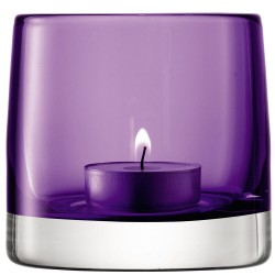 LSA Light Colour Tealight Holder - designer purple tea light