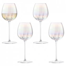LSA Pearl Wine Glasses - Set of 4 - designer iridescent glassware