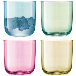 LSA Polka Tumblers - set of 4 pastel glasses