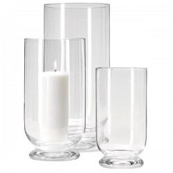 Terrace Storm Lanterns by LSA - glass patio candle holders
