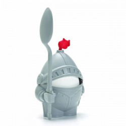 Arthur Egg Cup & Spoon - Novelty Knight Egg Cup