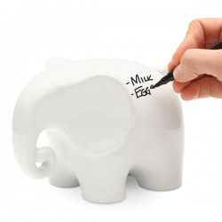 Eric the Memo Elephant - white elephant desk accessory