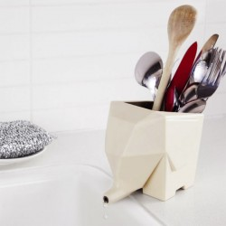 Jumbo Cutlery Drainer - Cream - elephant toothbrush holder