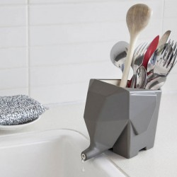 Jumbo Cutlery Drainer - Grey - elephant shaped drainer