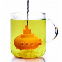 TeaSub Tea Infuser - designer yellow submarine tea strainer