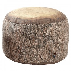 Merowings Forest Stump Pouf - Red Candy