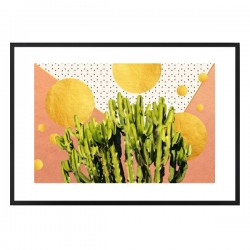 Cactus Dream Framed Print - Red Candy