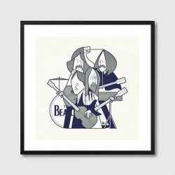 Fab Four Framed Art Print - The Beatles modern art print