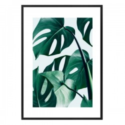 Monstera Framed Print - tropical leaf art print - 83 Oranges