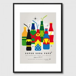 My Super Soda Pops Justice League Framed Print - Red Candy