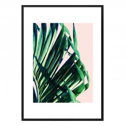 Palm V2 Tropical Framed Print - Red Candy