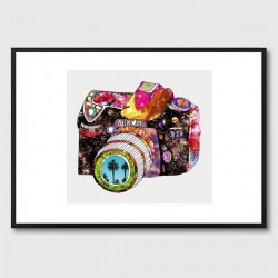 Picture This Framed Print - funky camera art print