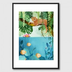 Welcome To The Jungle Framed Print - exotic leopard framed print