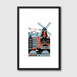 Amsterdam Framed Art Print - Red Candy