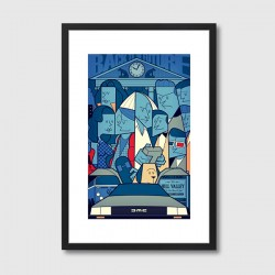 Back to the Future Framed Print – Back to the Future movie art print