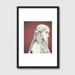 D. T. Framed Print - Game of Thrones Daenerys graphic art print