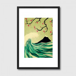 Falling in Love Framed Print – Japanese style art print