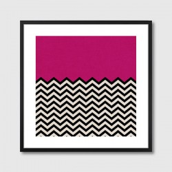 Follow Your Heart Framed Print – pink geometric art print