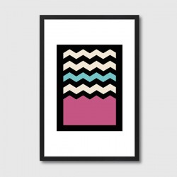 Geometric Chevron Colours 2 Framed Print – abstract colour art print