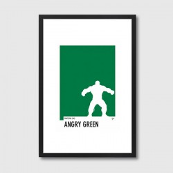 My Superhero 01 Pantone Angry Green Framed Print – pantone colour art print