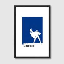 My Superhero 03 Pantone Super Blue Framed Print – blue pantone colour art print