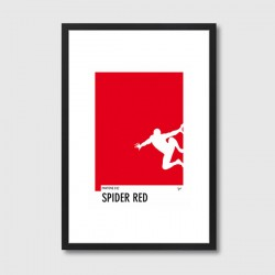 My Superhero 04 Pantone Spider Red Framed Print – red Pantone colour art print
